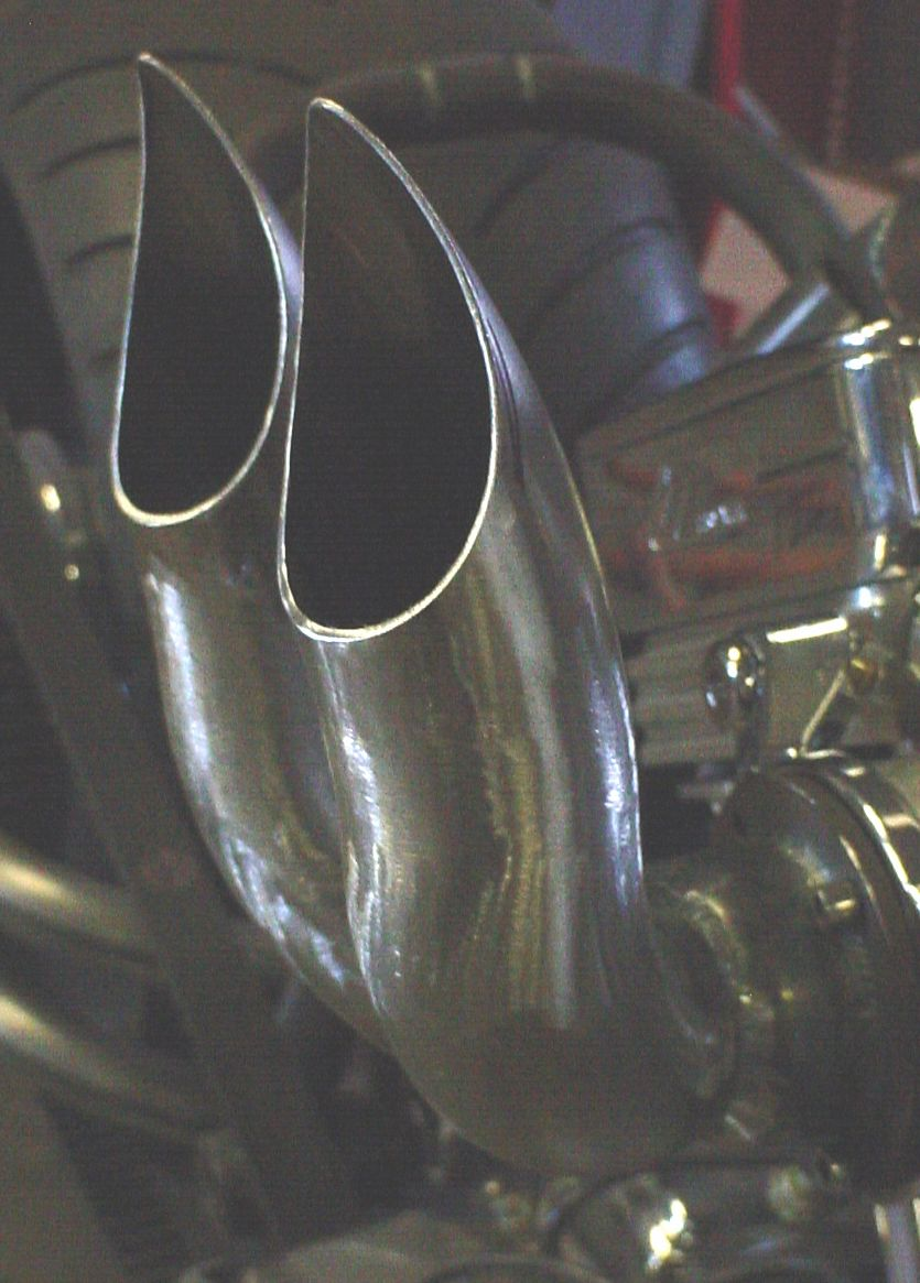 Exotic Choppers ~ Velocity stacks, custom air cleaners    407-253-1233